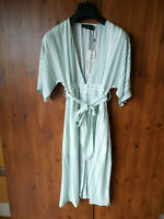 RRP £75 - URBAN OUTFITTERS SUMMER TEA SHIRT DRESS Green Stripe XS / UK 8 - NEW