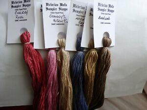 Primitives for July  over dyed floss set, 6 skeins, 20 yards each