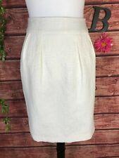 Banana Republic Skirt size 10 Ivory Pearl Textured Straight Pencil Wedding Knee