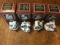 Vintage 1996 Lot:4 David Winter Cottages Christmas Ornaments Mini Houses