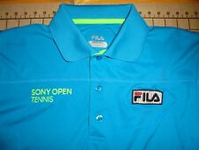 MENS SMALL AQUA FILA SONY OPEN TENNIS POLO SHIRT - NWT