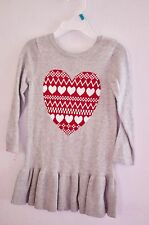 Baby Gap- Baby Girl Heart Print  Sweater Dress Size 12-18 Months  NEW