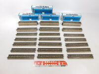 CN791-2# 40x Märklin H0/AC 5106 Gleisstück gerade (M-Gleis), sehr gut+OVP