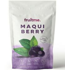 Fruit Me Organic Maqui Berry Powder 100g - Worlds Highest Antioxidant Rich Fruit