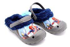 Marvel Superman Kids UK 12 to 13 EU 30/31 Fleece Lined Rubber Clog Sandals Shoes