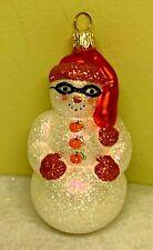 Patricia Breen Snowman Incognito Halloween Glass Glitter 2001 #2134 Ornament