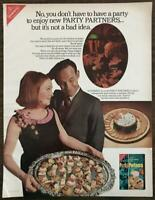 1965 Nabisco Party Partners Crackers Print Ad You Don't Have to Have a Party