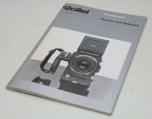Rolleiflex 6008 Anleitung Hinweise zum Gebrauch Rollei Sammlerstück F2