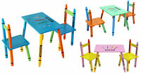 Kiddi Style Childrens Wooden Table and Chair set - Kids Toddlers Childs - NEW