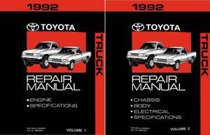 1992 Toyota Truck Shop Service Repair Manual