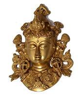 Statua Tara Artigianato etnico Made India Ottone Maschera Brass Statue 0.77 Kg