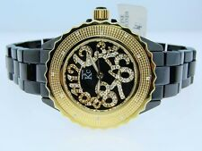 Womens/Ladies Techno Com Kc Ceramic Black Diamond Watch