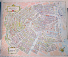 """AMSTERDAM Map Norbert Ceulemans Limited Edition Lithograph Print Poster 30""""x 35"""""""