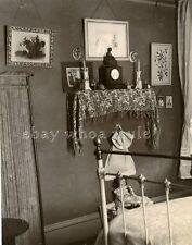 1900s - home interior - BEDROOM - excellent photo! albumen, crisp focus (#2)
