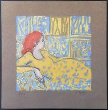 Robert Stenne (1931- ) Femme rousse lascive - LIthographie originale #250ex