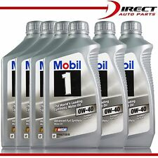 0W40 MOBIL 1 Fully Synthetic Advanced Motor Oil BMW & Mercedes-Benz 6 Quarts