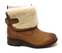 UGG Womens Aldon Winter Boot Lined Chestnut Brown Leather Size 5.5 M