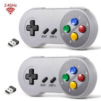 2Pack Wireless SNES USB PC Controller for Windows PC MAC Linux Raspberry Pi