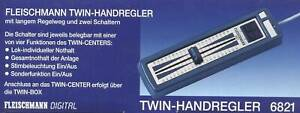 Fleischmann TWIN-HANDREGLER, # 6821, **Neu&Ovp**