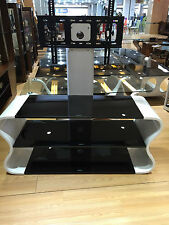 "Wooden TV Stand with Bracket for 32""- 65"" Black Glass Shelves TV Cabinet TV Unit"