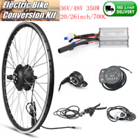 36/48V Front Rear Motor 20/26/700C Wheel Electric Bicycle E-bike Conversion Kits
