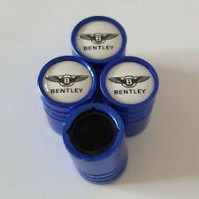 BENTLEY BLUE DUST VALVE CAPS 13 colours NON STICK for all Models