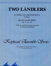 TWO LANDLERS Beethoven Schubert Sheet Music Two Pianos Four Hands