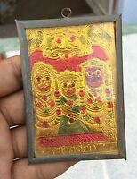 VINTAGE RARE LORD JAGGANATH PURI WELL FRAMED MINIATURE PICTURE