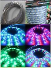 3M RGB Remote 110V 120V 5050SMD Flexible Flat LED Strip Rope Light+US Plug