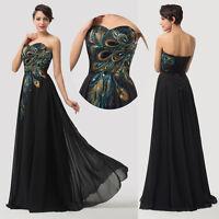 Womens Lady Maxi Evening Long Prom Dresses Formal Party Dress PLUS SIZE AU:20~26