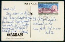 MayfairStamps Indonesia Hotel Bali Beach to New York Cover WWH41933