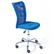 Chaise de bureau BONNIE siège fauteuil pivotant ergonomique sur roulettes BLEU