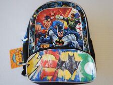 Justice League Batman Superman Green Lantern Flash Kids Youth School  Backpack