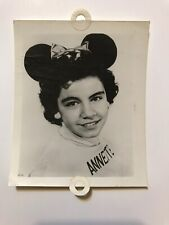 Annette Funicello Mickey Mouse Club House Head Shot Black & White