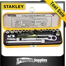 "Stanley Socket Set   21 Piece 1/4"" Drive Metric SAE Imperial  89.507"