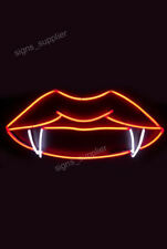 New Devil Lips Acrylic Neon Light Sign 17""