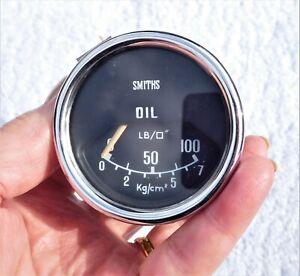 SMITHS OIL PRESSURE GAUGE 0 - 100 BMC MINI TRIUMPH MG LOTUS