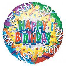 Happy Birthday Explosion Prismatic Foil Helium Balloon