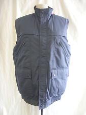 Mens Gilet - Champion, size M, grey/blue, faux fur lining, zips, pockets - 0994