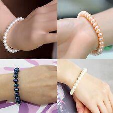 echte Perlen Armband  weiß Rosa  neu Süßwasser Perle