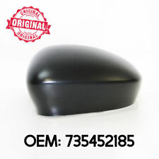 Left Side Wing Mirror Cover Cap Casing Black For Fiat 500 from 2007 onwards