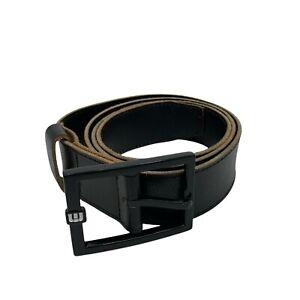 "Travis Mathew Golf Belt 36""-40"" Men's Size L/XL Black Leather Metal Buckle"