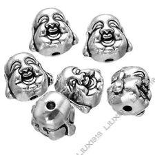 10x Tibetan Silver buddha head Spacer Beads DIY Jewelry Accessories Beading /753