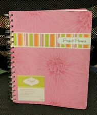 Pink Project Planner Organizer Spiral Bound With Stickers For Quick Reference