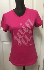 Nike Women's T-Shirt Join Us Livestrong Pink 100% Cotton Size Large
