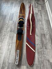 "Rare Vintage O'Brien Competition 68"" Slalom Waterski Water Ski Wood Wooden W/Bag"