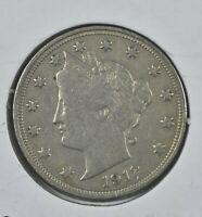 1912 Liberty V Nickel XF Grade Coin