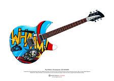 Paul Weller's Rickenbacker 330 WHAAM! guitar ART POSTER A3 size