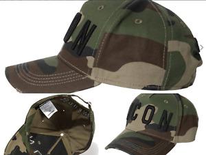 Dsquared2 Icon Baseballcap Cap Camouflage Army Kappe Hat Cappy Hut Basebalkappe