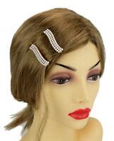 Ella Jonte 2 X Haarklammer Wave gold weiß Perlen Haarklemmen Party Hochzeit neu